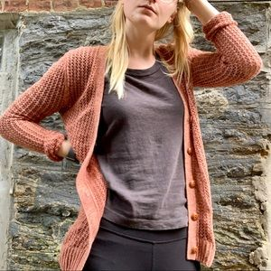 Fossil | Open Knit Cardigan Sweater